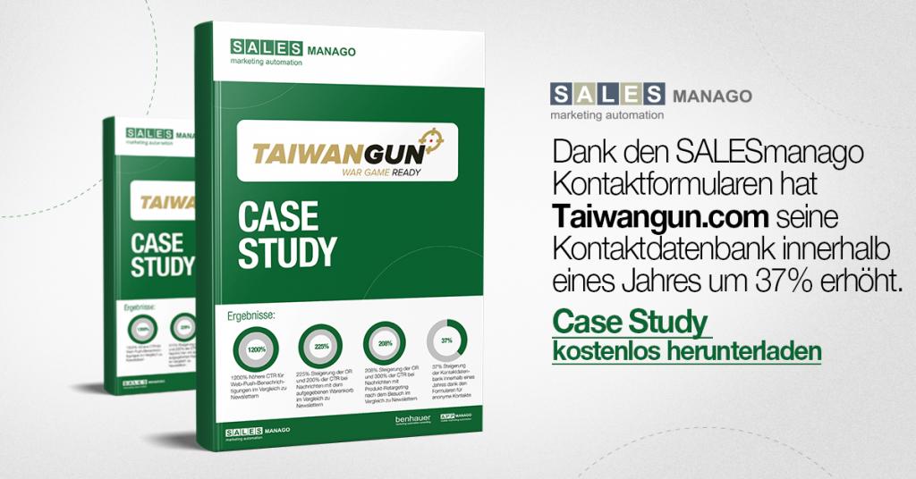 Die Kontaktdatenbank um 37% erhöhen und um 200% bessere Ergebnisse in der direkten Kommunikation mit den Kunden erzielen [Case Study Taiwangun]