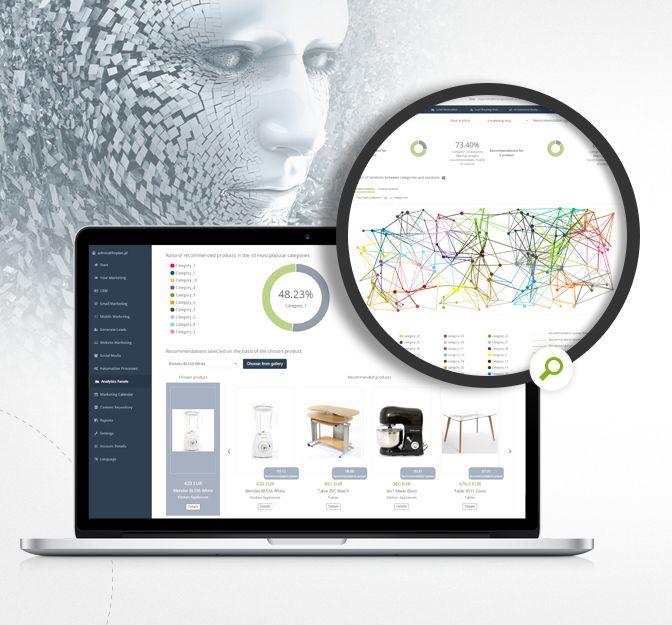 Nutzen Sie das volle Potenzial der künstlichen Intelligenz mit dem neuen Analysedashboard SALESmanago Copernicus – AI Empfehlungen