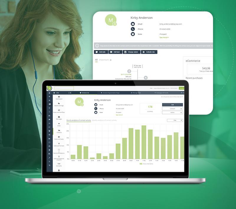Ein CRM, das an Ihre Bedürfnisse angepasst ist: die neue Kontaktkarte bei SALESmanago
