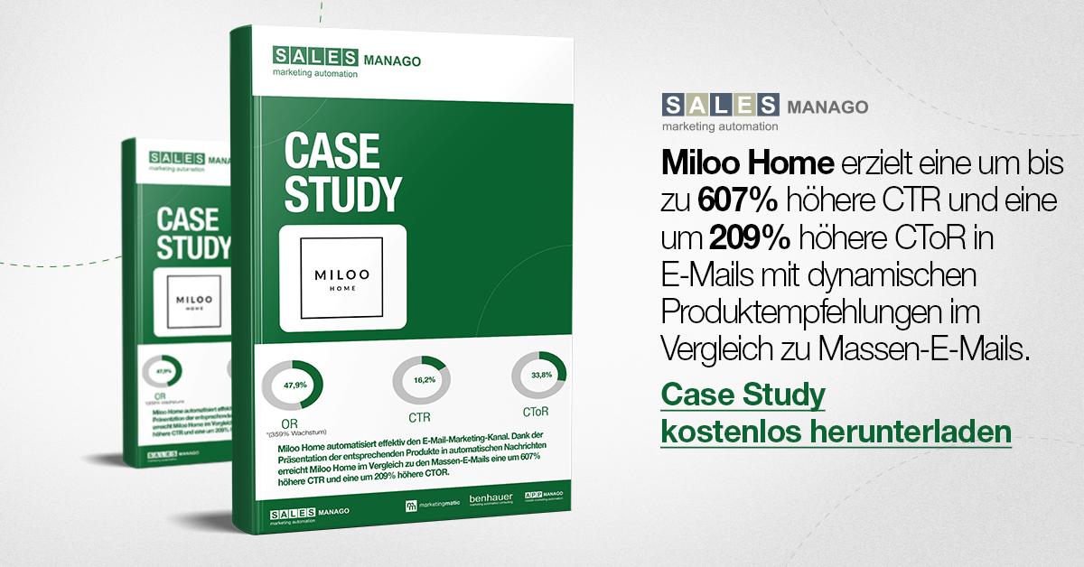 Wie kann man dank dynamischen Produktempfehlungen die CTR um 607% und die CToR um 209% erhöhen (Case Study Miloo Home)