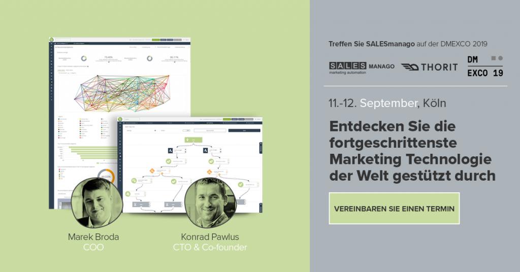 Treffen Sie SALESmanago auf der DMEXCO 2019 in Köln