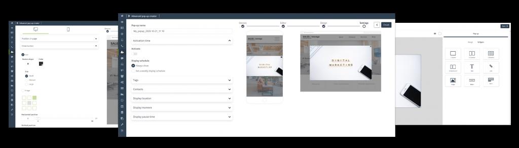 [Neue Funktionalität] Konvertieren und gewinnen Sie mehr neue Kunden mit den umfangreichen Funktionen des Custom Modal Designers, der eine Hyperpersonalisierung der Website durch fortschrittliche und hoch konfigurierbare Pop-ups ermöglichtv