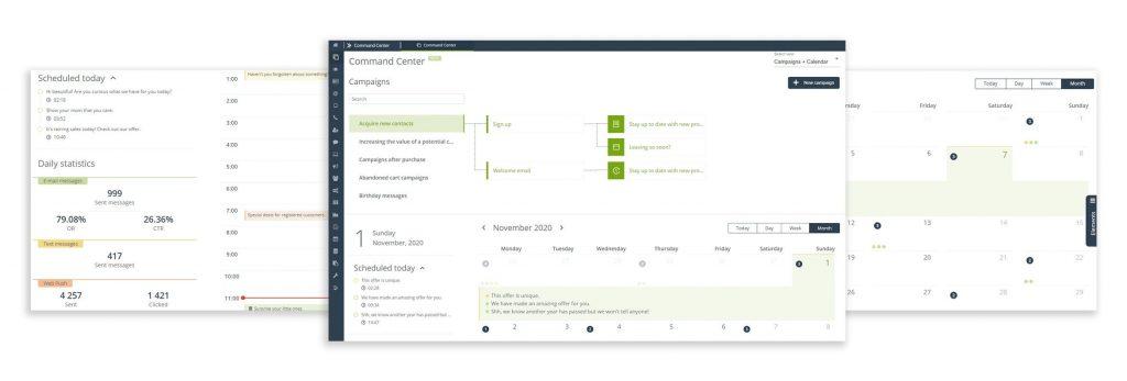 [Neue Funktionalität] Command Center setzt einen neuen Standard der Benutzerschnittstelle zum Management von auf KPI ausgerichteten Multikanal-, Multifunktions- und Multitasking-Marketingprozessen.